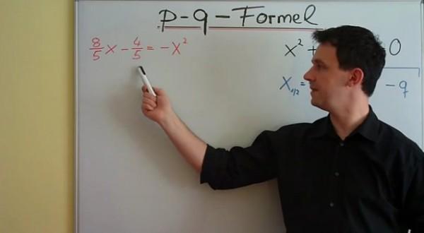 pq-Formel mit Brüchen Video Mathenachhilfe