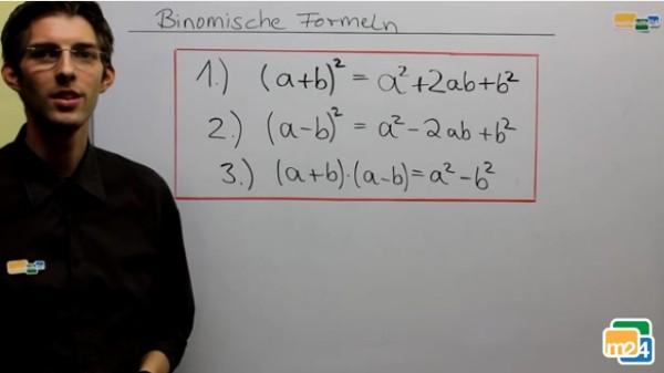 Herleitung der drei binomischen Formeln