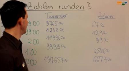 Zahlen runden Mathematik