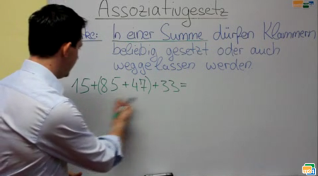 Assoziativgesetz Mathematik Video Erklärung