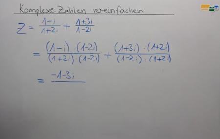 Komplexe Zahlen Beispielaufgabe Mathematik Oberstufe