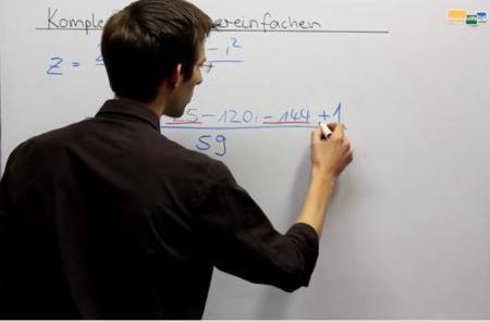 Komplexe Zahlen vereinfachen Beispielaufgabe Mathematik Oberstufe