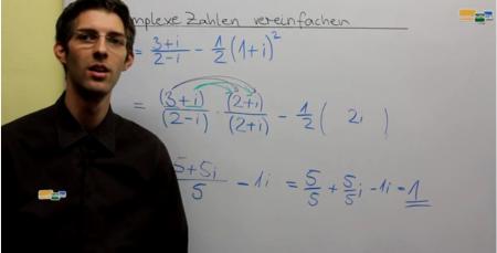 Komplexe Zahlen vereinfachen Beispielaufgabe Mathematik Oberstufe Nachhilfe