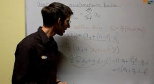 Video über unendliche arithmetische Reihe Mathenachhilfe