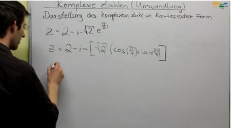 Komplexe Zahlen - Polarform in Kartesische Form