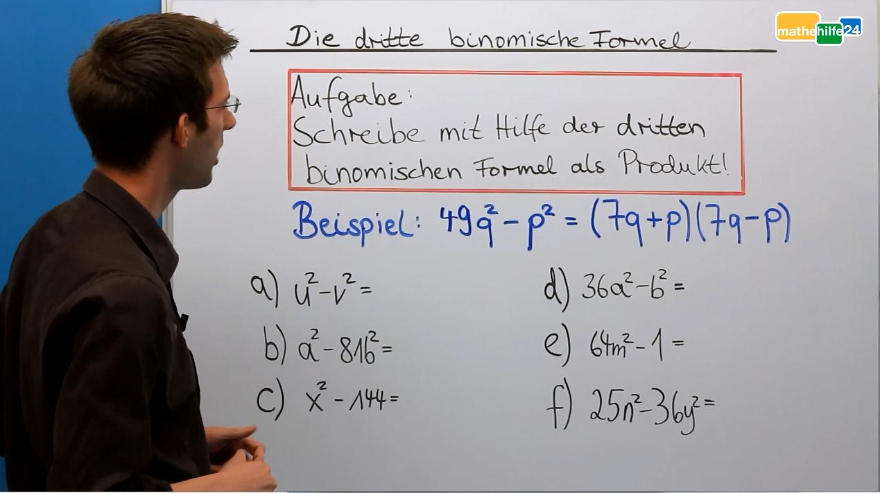 3. Binomische Formel Video u00bb mathehilfe24