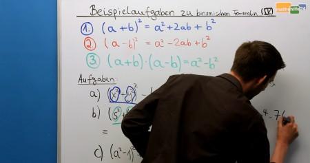 Übungsaufgaben zu Binomischen Formeln