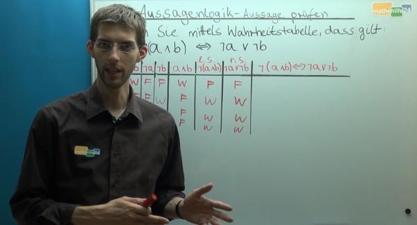 Aussagenlogik - Aussagen prüfen - Video