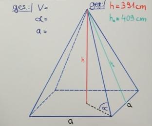 Quadratische Pyramide Volumen Trigonometrie Mathenachhilfe 2.0 Mathe Videos