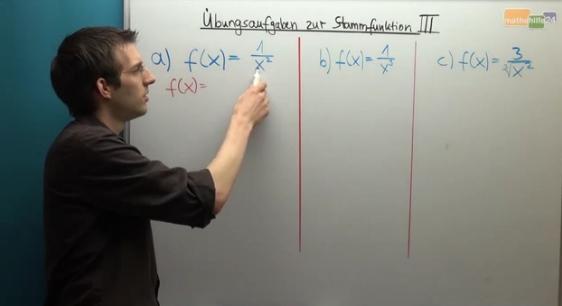 Mathematik Nachhilfe: Wie bestimme ich die Stammfunktion?