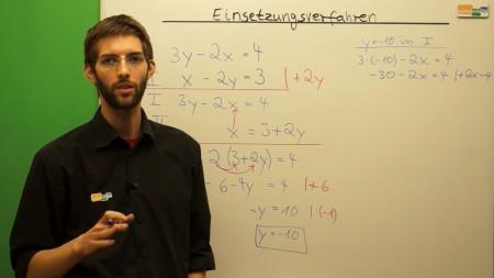 Mathematik Video Einsetzungsverfahren