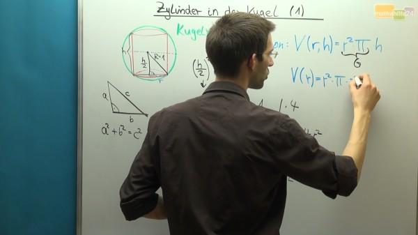Mathe Videos Zylinder in der Kugel