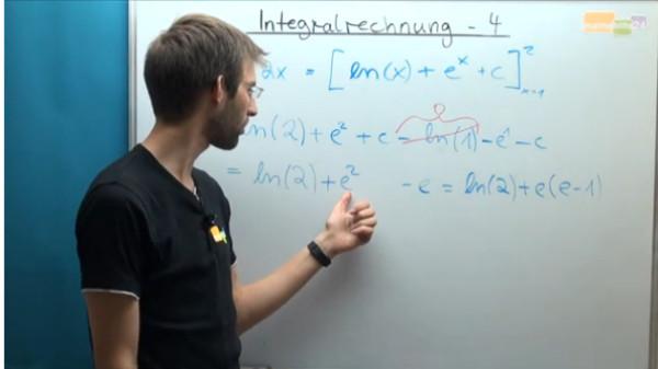 Lernvideo, Integralrechnung, Bestimmtes Integral, e-Funktion
