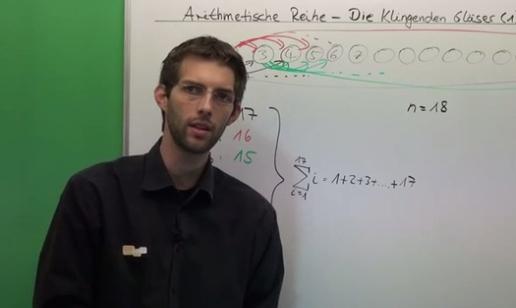 Arithmetische Reihe - Die klingenden Gläser (1)