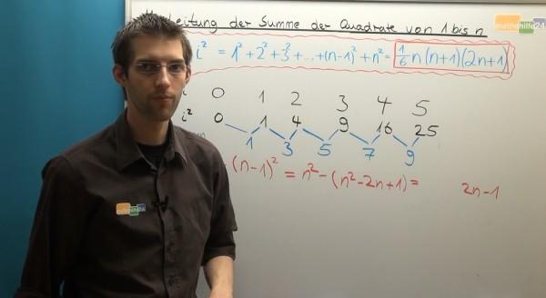Herleitung der Summe der Quadrate von 1 bis n