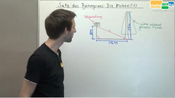 Satz des Pythagoras - Die Fichte (1)