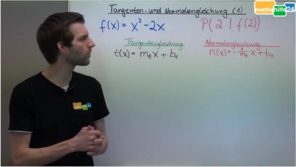 Tangenten- und Normalengleichung (1)