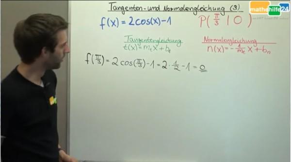 Tangenten- und Normalengleichung (3)