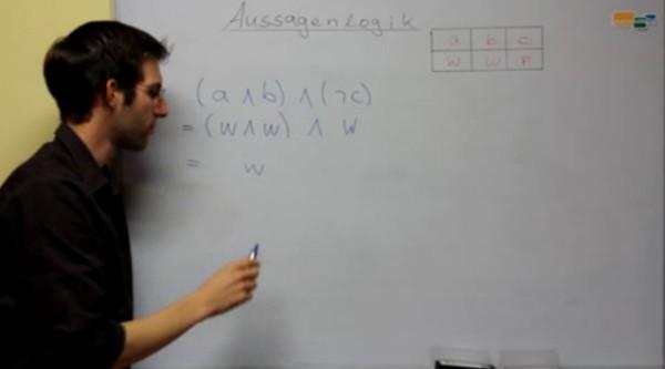 Aussagen, die durch die typischen Aussagelogik-Operatoren verknüpft sind, überprüfen