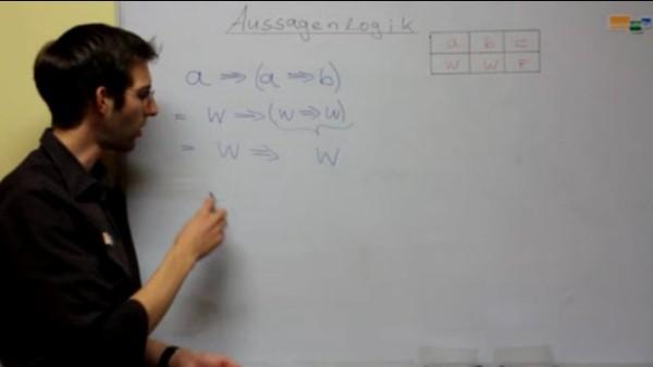Aussagen im mathematischen Sinne auf den Wahrheitsgehalt überprüfen