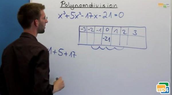 Ein weiteres Beispiel zur Polynomdivision.