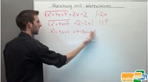 Gleichung mit Wurzeln lösen