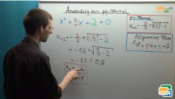 Anwendung der pq-Formel