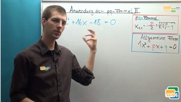 konkrete Anwendung der pq-Formel