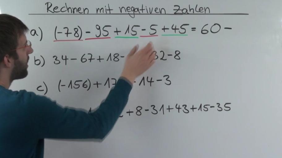 Rechnen mit negativen Zahlen - Mathematik einfach erklärt » mathehilfe24