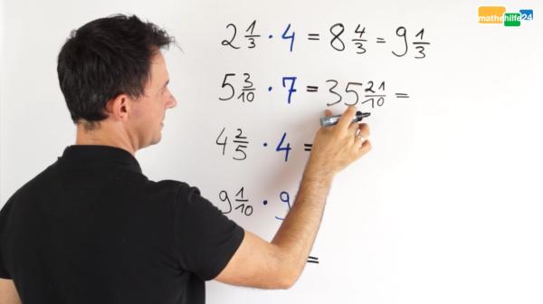 Gemischte Zahl mal natürliche Zahl_Übung Mathematik