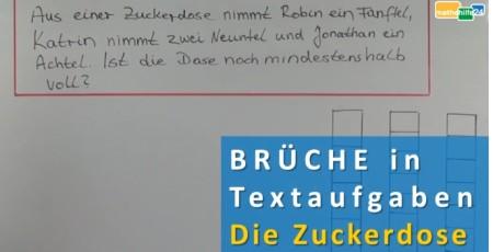 bruchrechnung textaufgaben die zuckerdose mathehilfe24. Black Bedroom Furniture Sets. Home Design Ideas